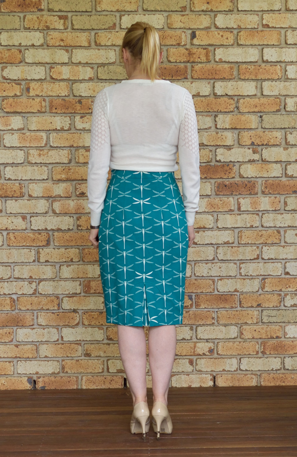 Pencil Skirt With A Different Kind Of Kick Pleat Sew Hopeful